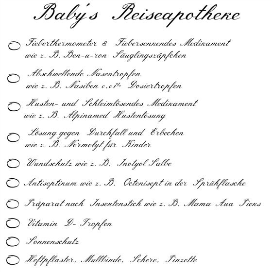 Reiseapotheke-Baby