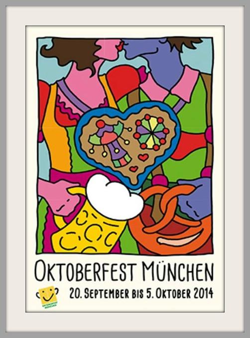 Offizielles Oktoberfest-Plakat 2014