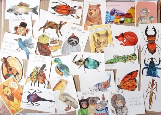Frau Ottilie Postkarten