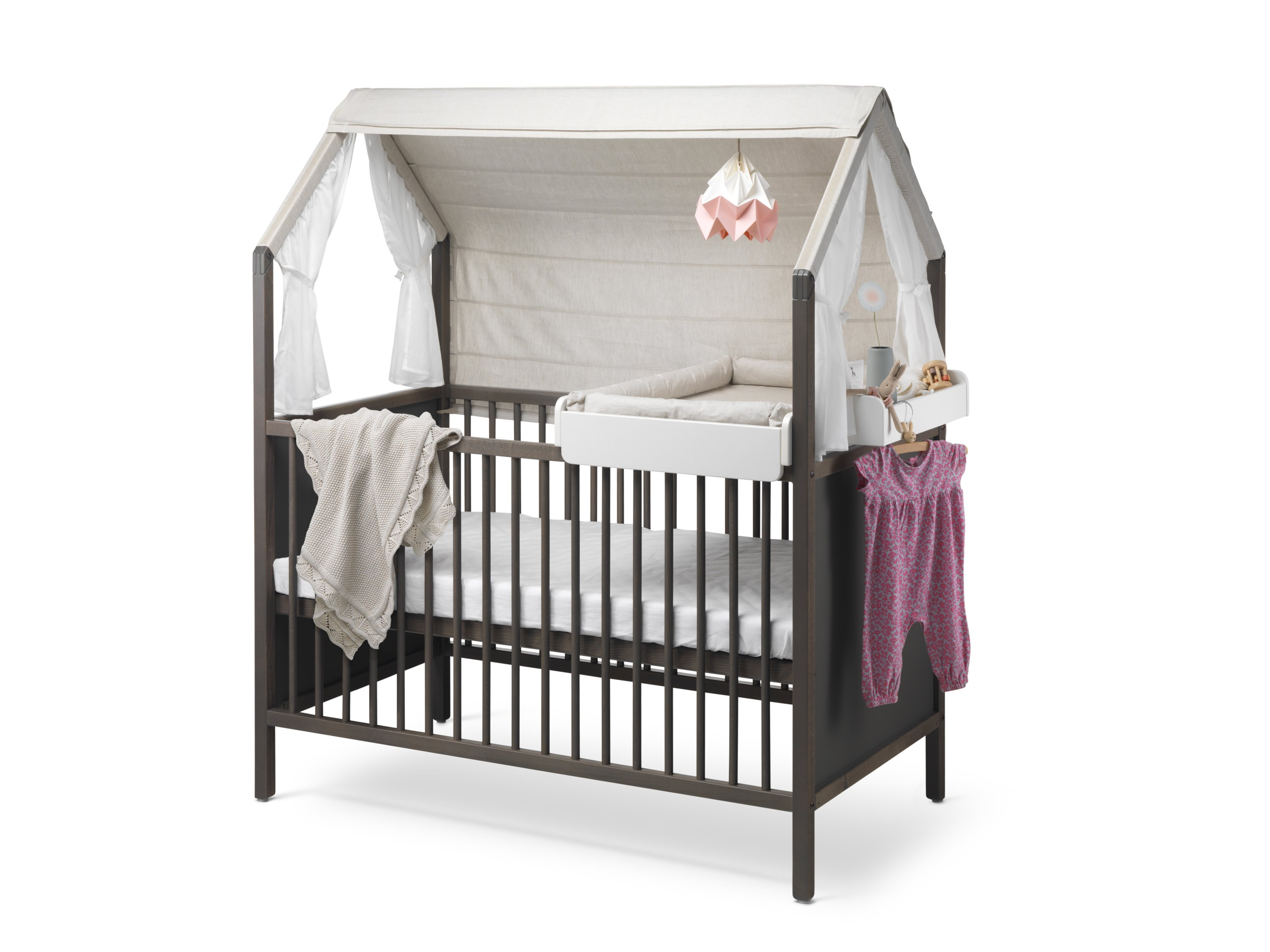 stokke bett grau pretababy pr t baby. Black Bedroom Furniture Sets. Home Design Ideas
